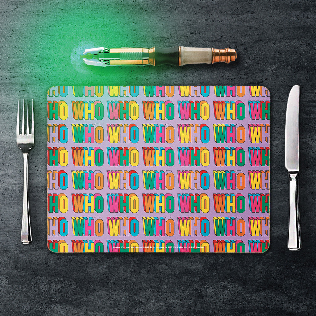 Thirteenth Doctor Pattern Who Placemat (Lifestyle)