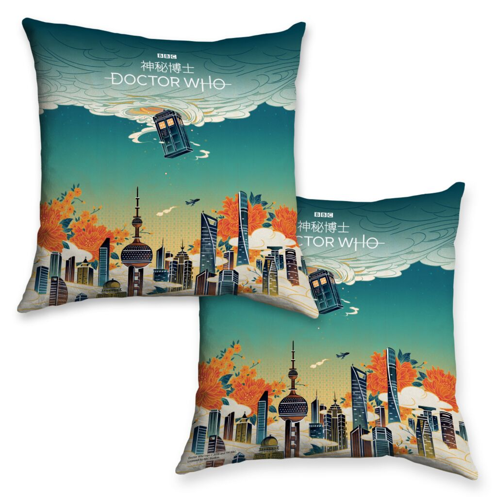 The TARDIS China Collection - Cushion