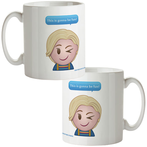 Thirteenth Doctor Emoji Mug