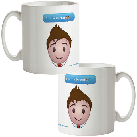 Tenth Doctor Emoji Mug
