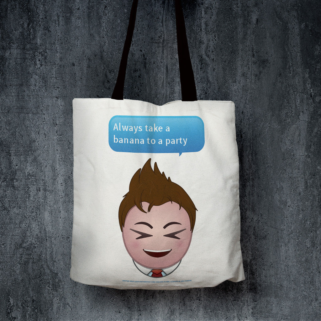 Tenth Doctor Emoji Edge to Edge Tote