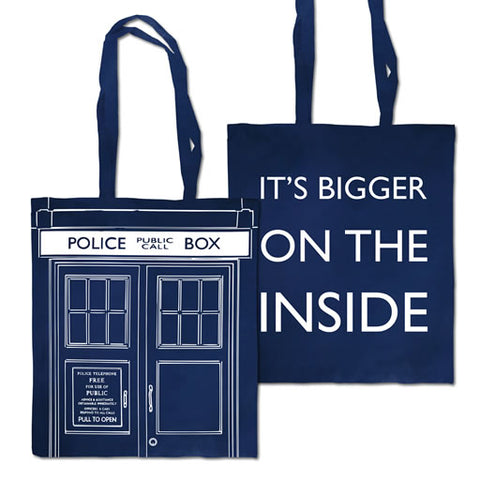 Tardis 'Bigger on the Inside' Edge to Edge Tote