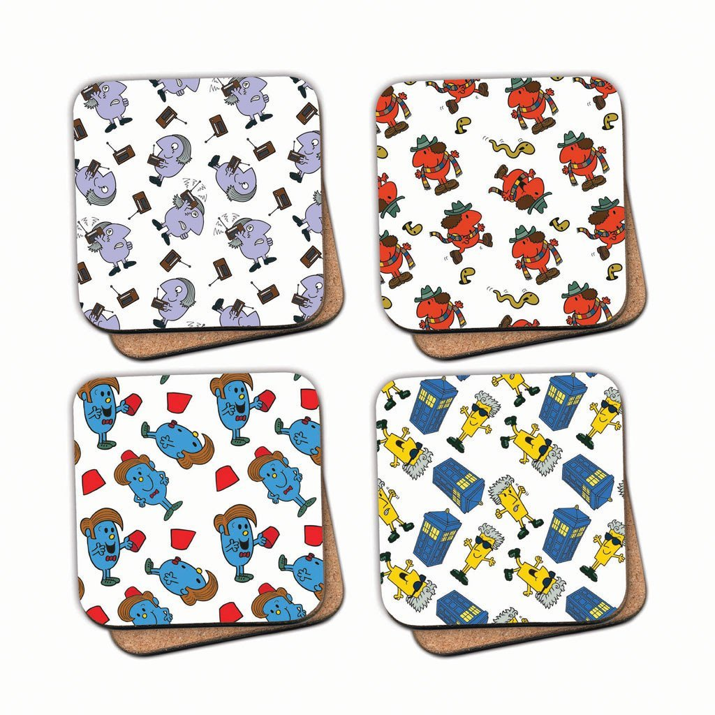 Mr.Men - Four Doctors Patterned Cork Coaster Set