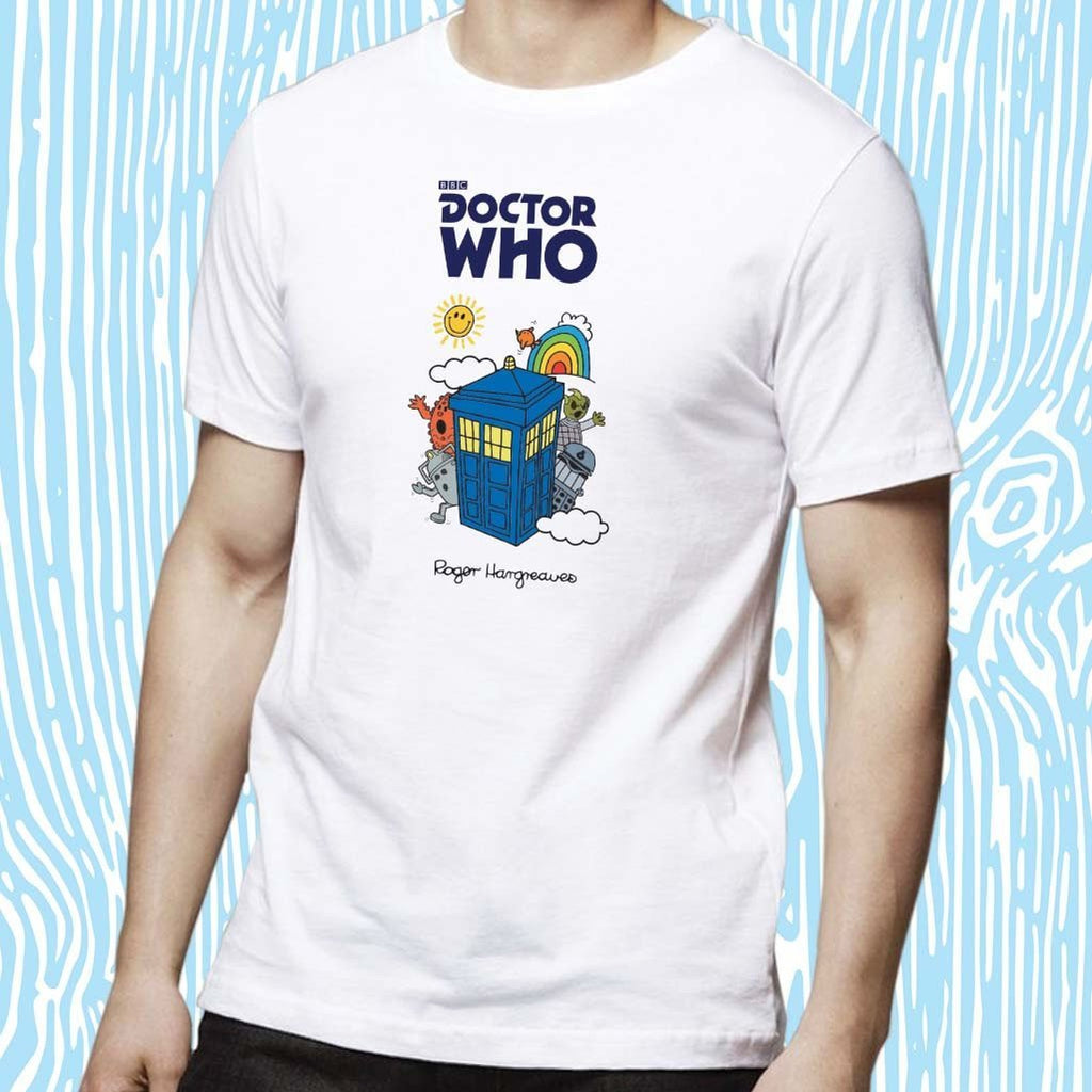 Mr. Men - Monsters & Tardis Adult T-Shirt