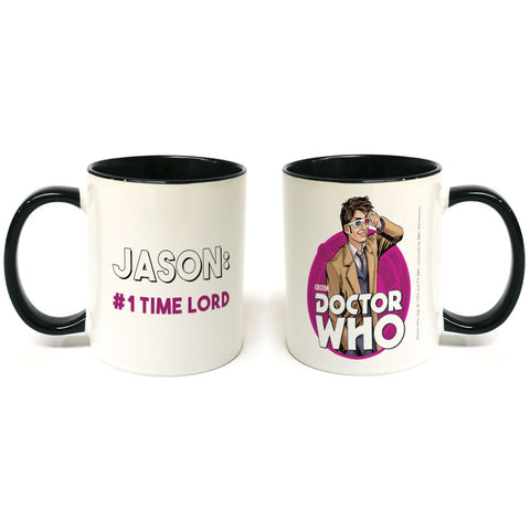 Tenth Doctor Personalised Colour Insert Mug