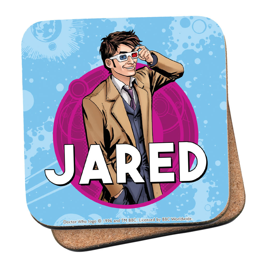 Tenth Doctor Personalised Coaster