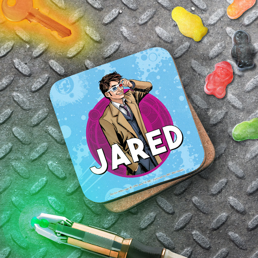 Tenth Doctor Personalised Coaster (Lifestyle)