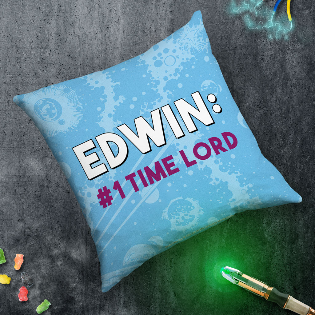 Tenth Doctor Personalised Cushion (Lifestyle)