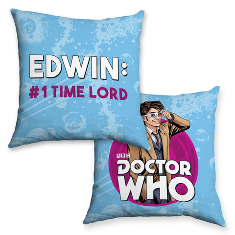 Tenth Doctor Personalised Cushion