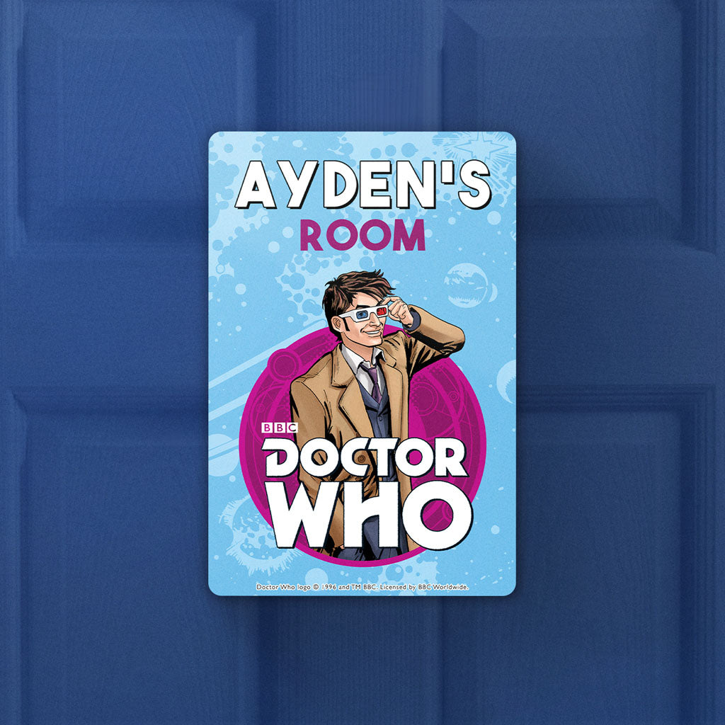 Tenth Doctor Personalised Door Plaque (Lifestyle)