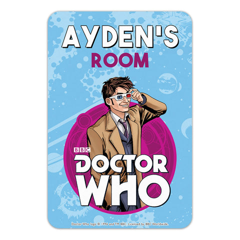 Tenth Doctor Personalised Door Plaque