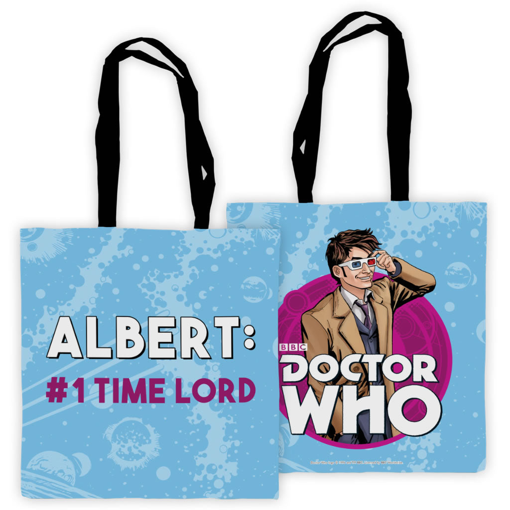 Tenth Doctor Personalised Edge to Edge Tote
