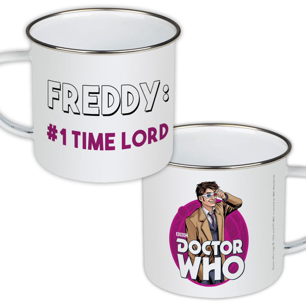 Tenth Doctor Personalised Enamel Mug