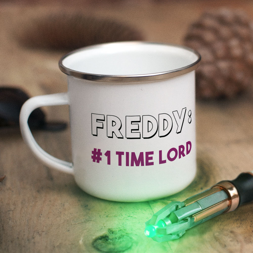 Tenth Doctor Personalised Enamel Mug (Lifestyle)