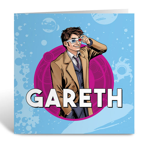 Tenth Doctor Personalised Greeting Card