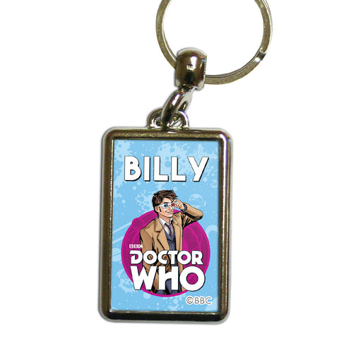Tenth Doctor Personalised Metal Keyring