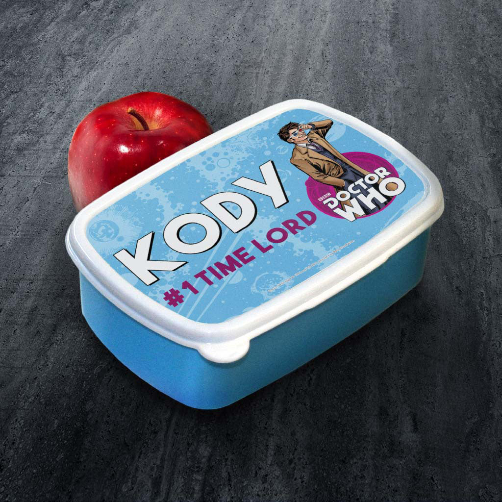 Tenth Doctor Personalised Lunchbox (Lifestyle)