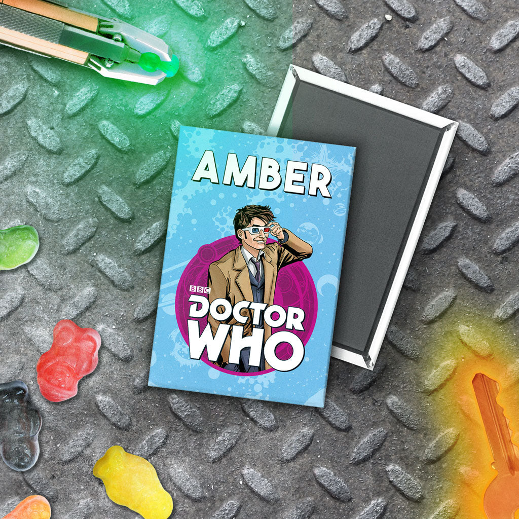 Tenth Doctor Personalised Magnet (Lifestyle)