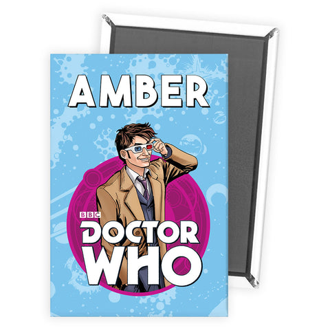 Tenth Doctor Personalised Magnet