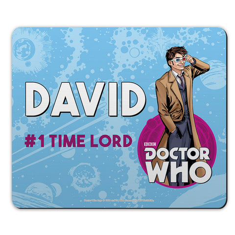 Tenth Doctor Personalised Mousemat