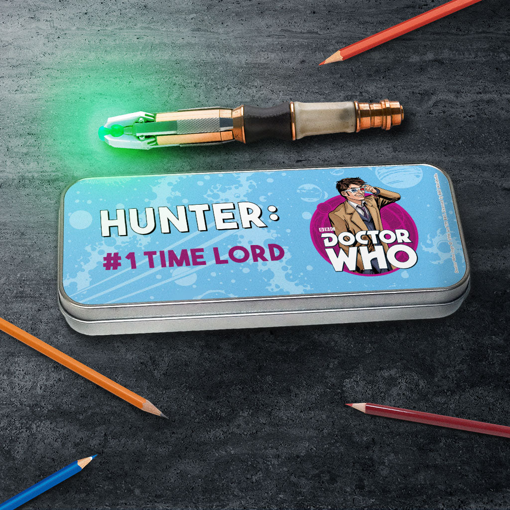 Tenth Doctor Personalised Pencil Tin (Lifestyle)