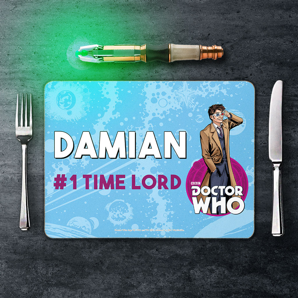 Tenth Doctor Personalised Placemat (Lifestyle)