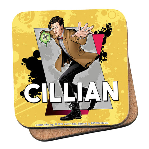 Eleventh Doctor Personalised Coaster