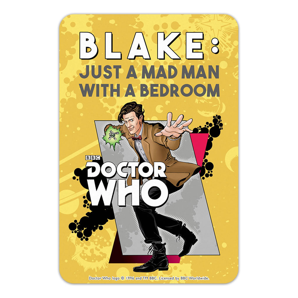 Eleventh Doctor Personalised Door Plaque