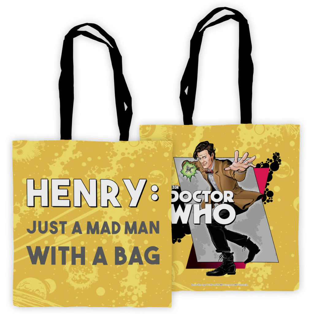 Eleventh Doctor Personalised Edge to Edge Tote