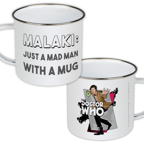 Eleventh Doctor Personalised Enamel Mug