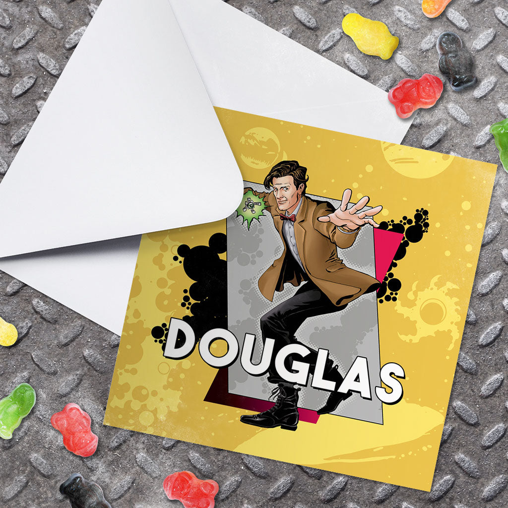 Eleventh Doctor Personalised Greeting Card (Lifestyle)