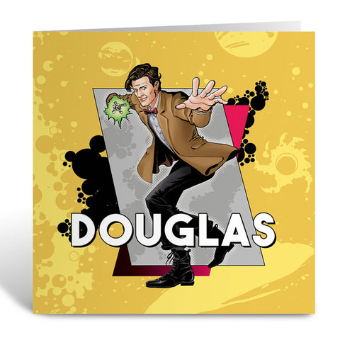 Eleventh Doctor Personalised Greeting Card