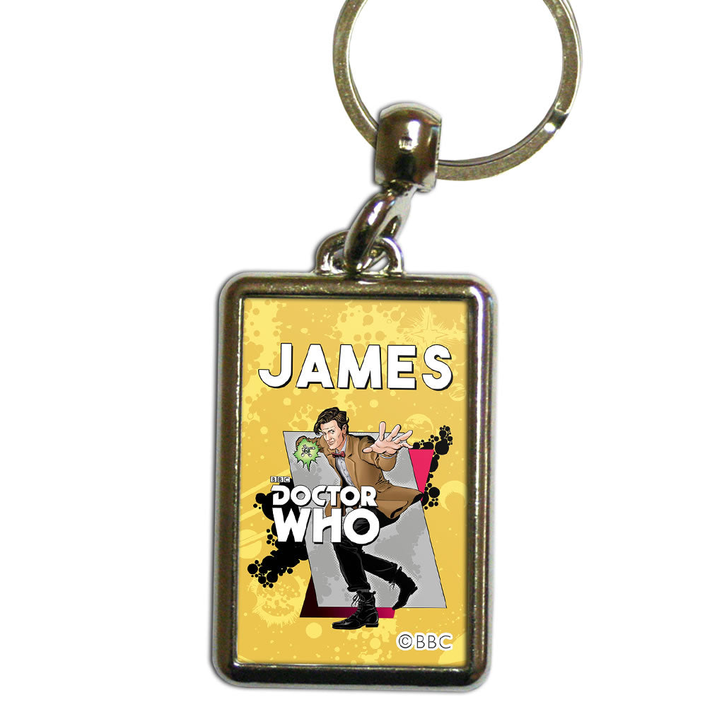 Eleventh Doctor Personalised Metal Keyring