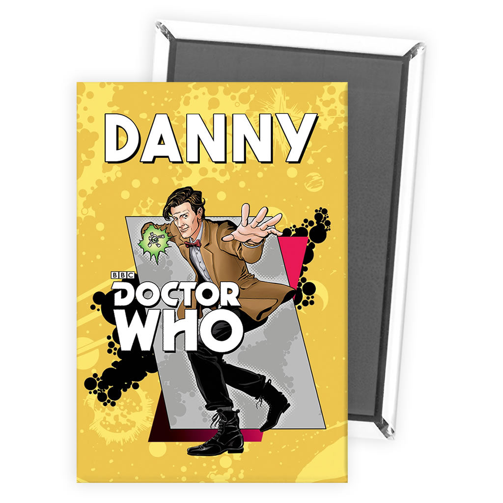 Eleventh Doctor Personalised Magnet
