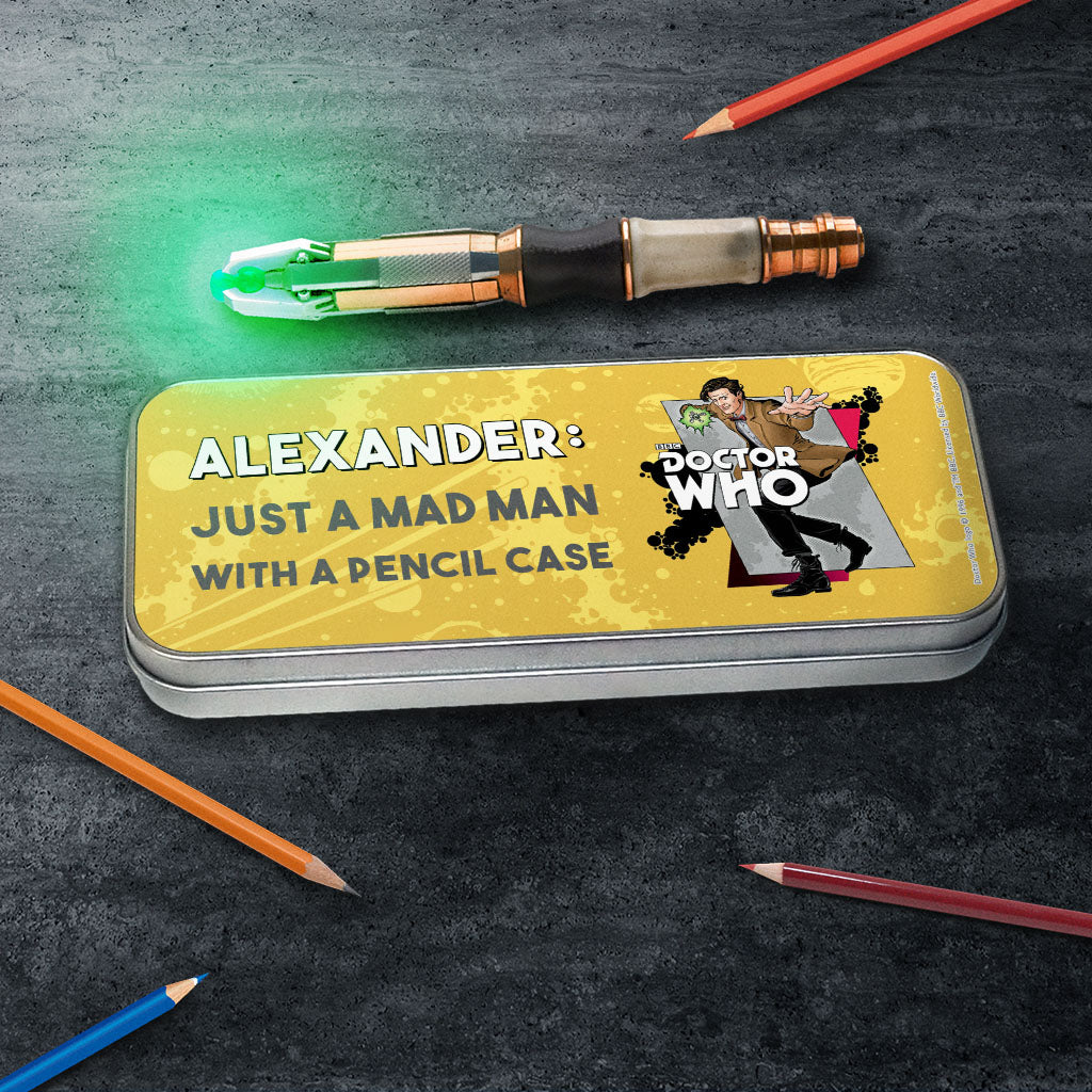 Eleventh Doctor Personalised Pencil Tin (Lifestyle)