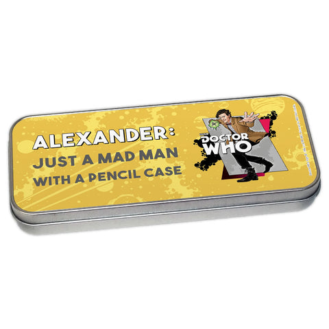 Eleventh Doctor Personalised Pencil Tin
