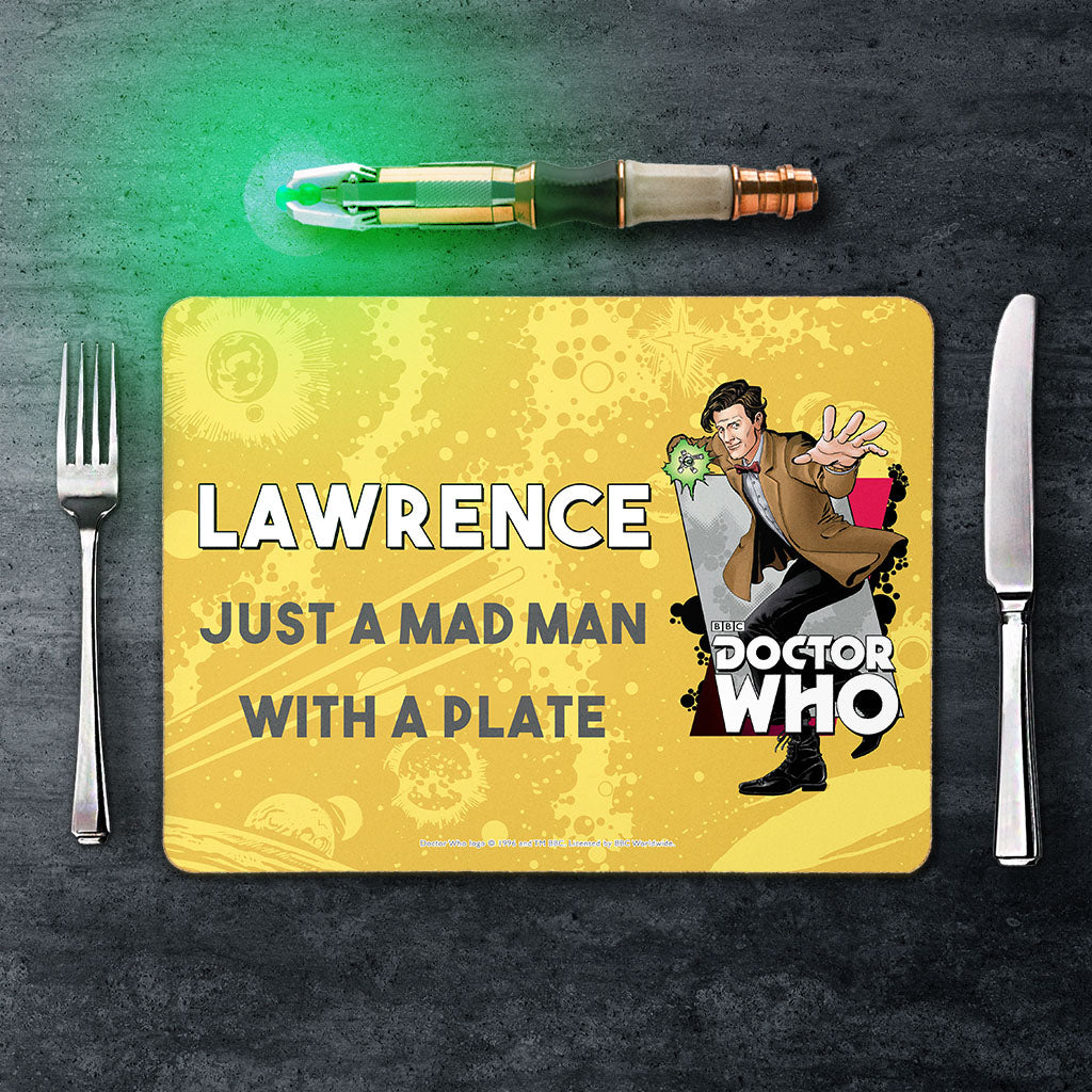 Eleventh Doctor Personalised Placemat (Lifestyle)