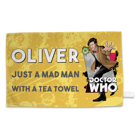 Eleventh Doctor Personalised Tea Towel
