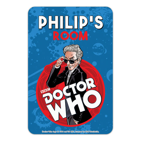 Twelfth Doctor Personalised Door Plaque