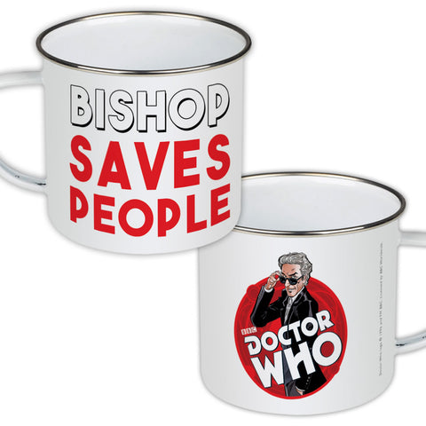 Twelfth Doctor Personalised Enamel Mug