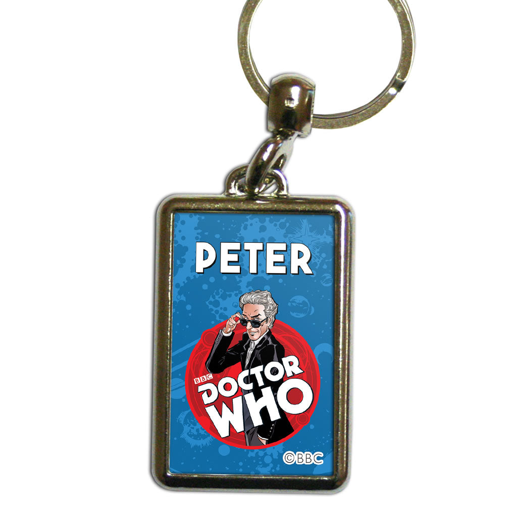 Twelfth Doctor Personalised Metal Keyring