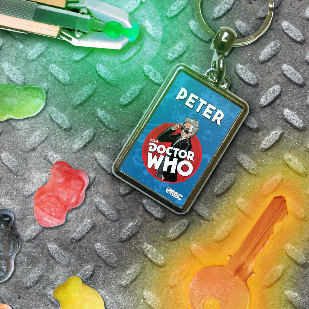 Twelfth Doctor Personalised Metal Keyring (Lifestyle)