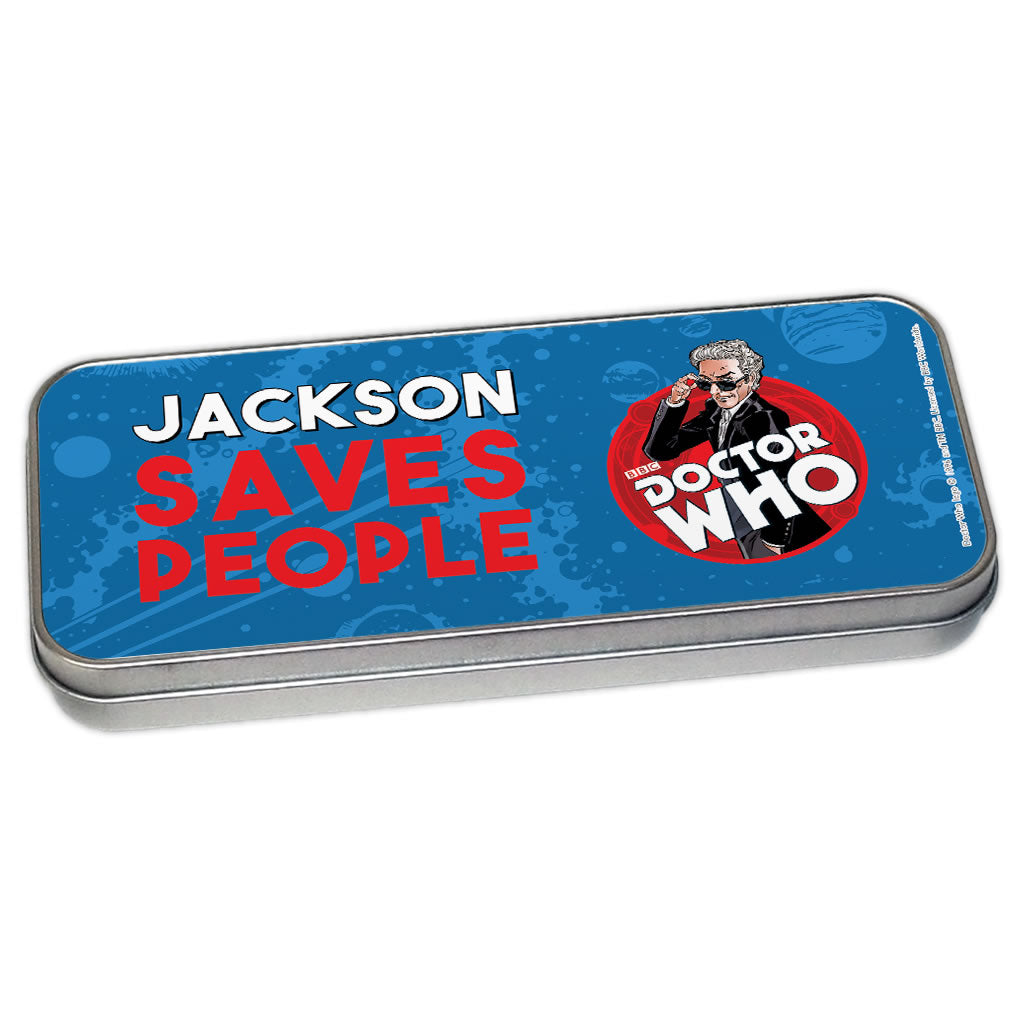 Twelfth Doctor Personalised Pencil Tin