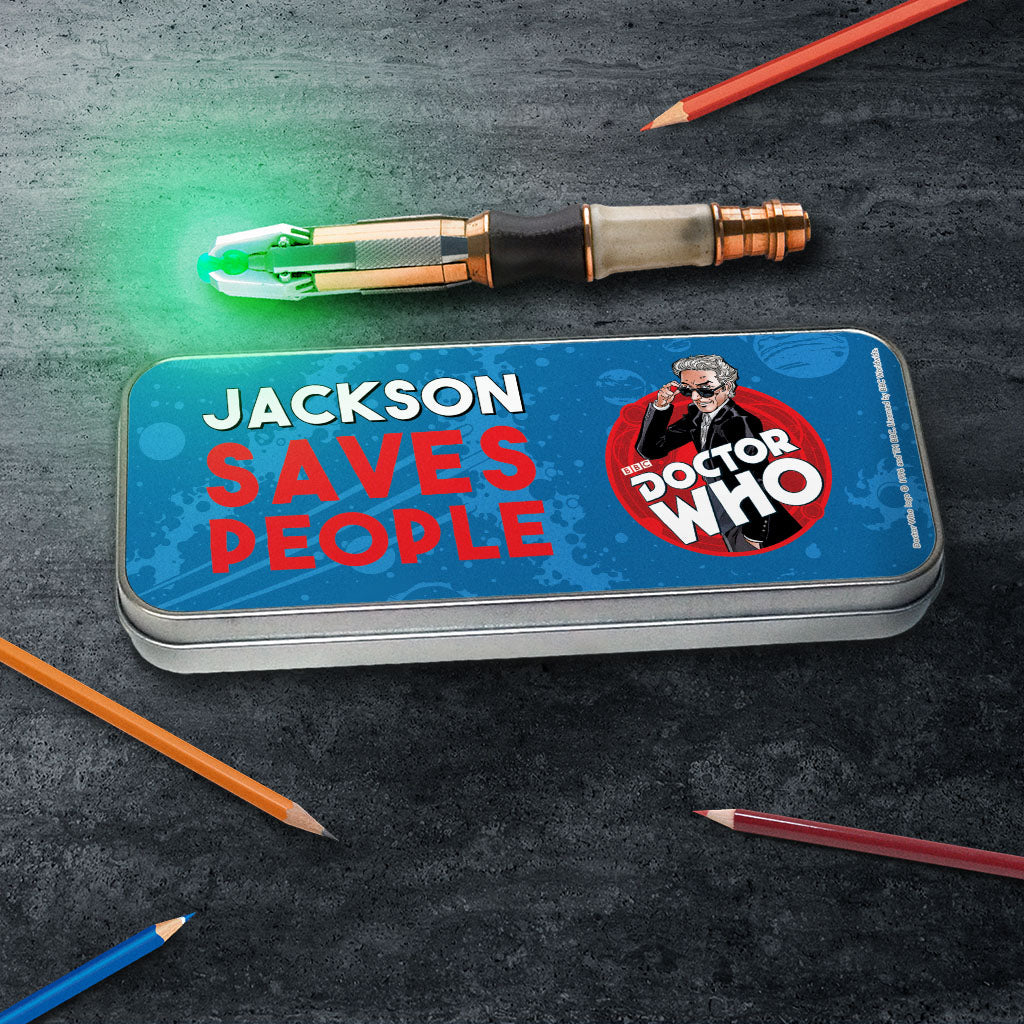Twelfth Doctor Personalised Pencil Tin (Lifestyle)