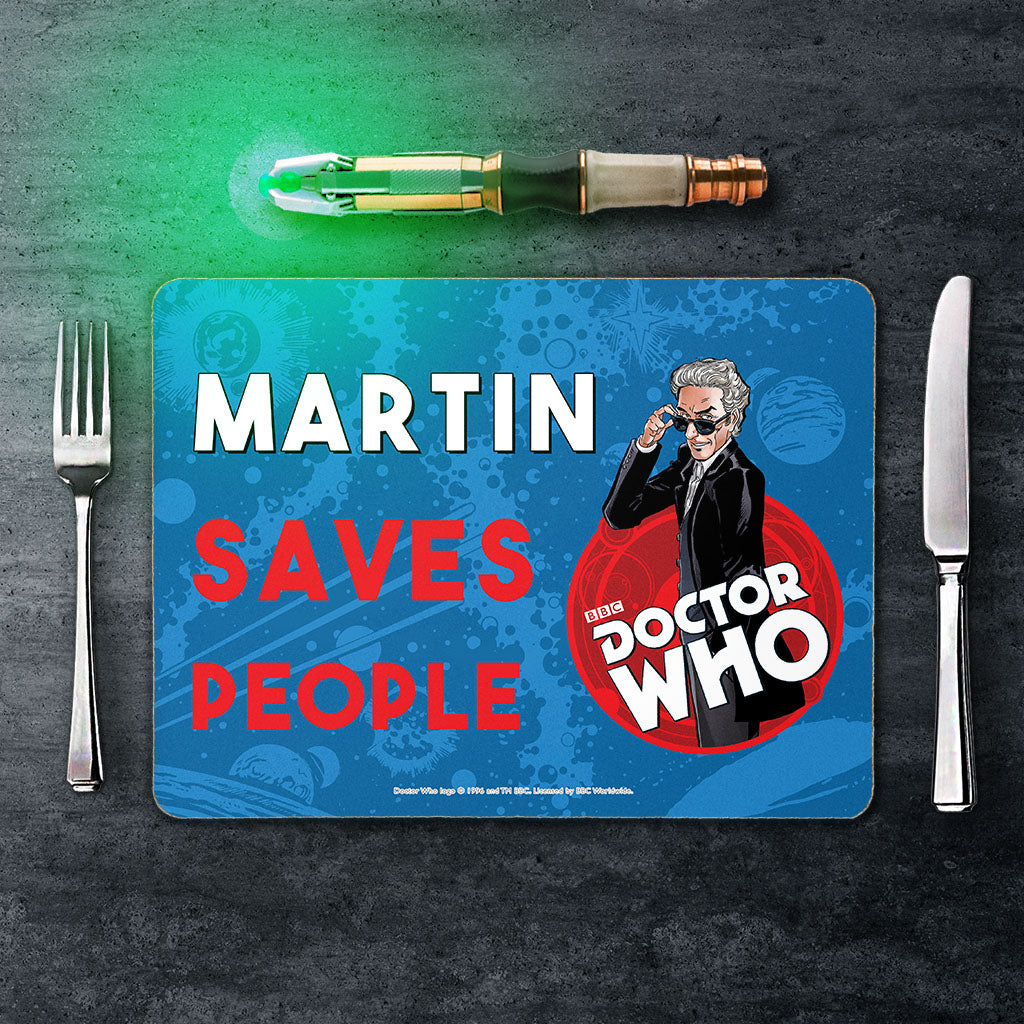 Twelfth Doctor Personalised Placemat (Lifestyle)