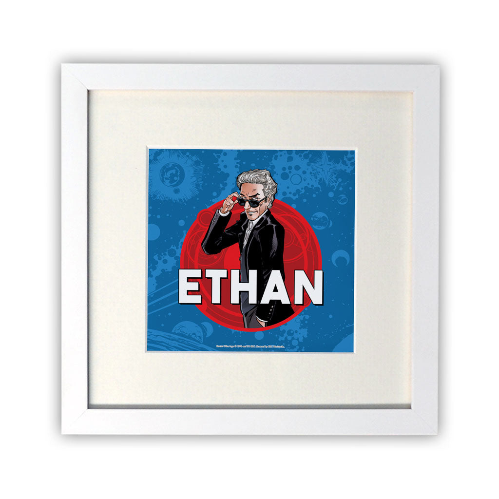 Twelfth Doctor Personalised Square White Framed Print