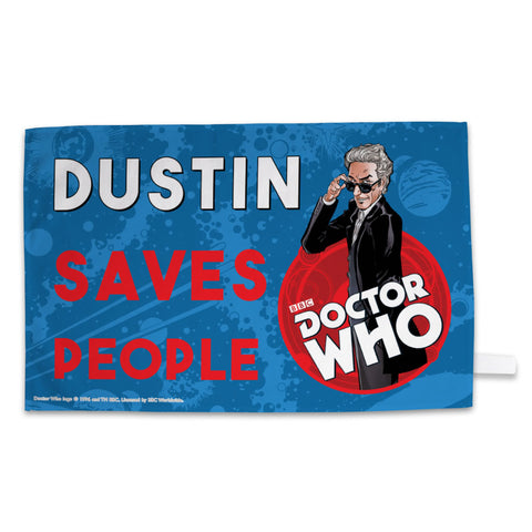 Twelfth Doctor Personalised Tea Towel