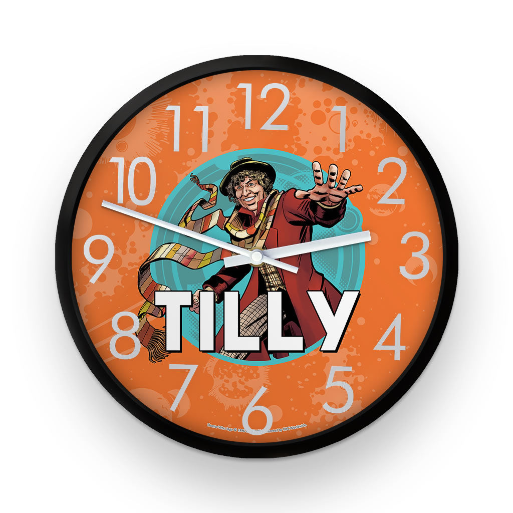 Fourth Doctor Personalised Clock