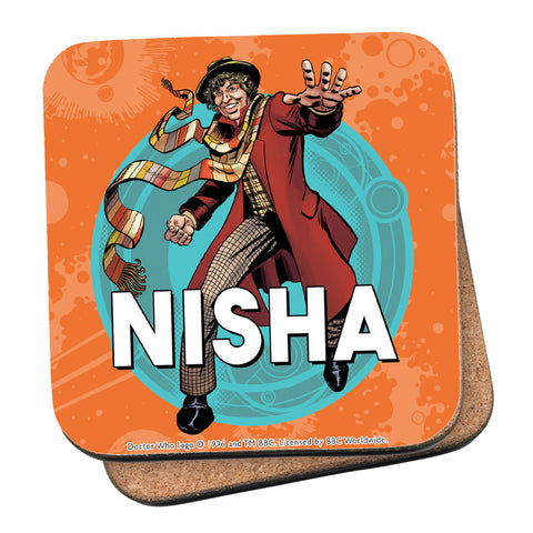 Fourth Doctor Personalised Coaster