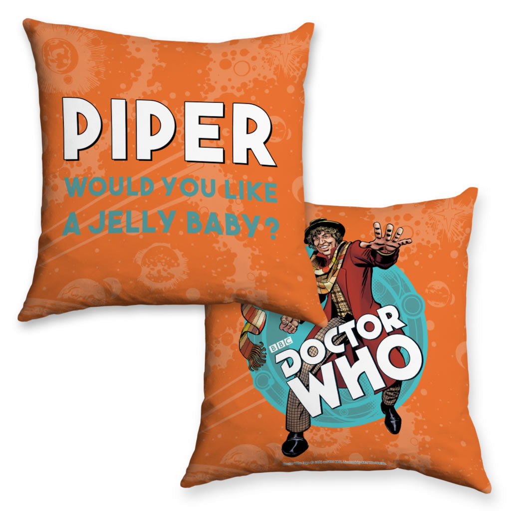 Fourth Doctor Personalised Cushion